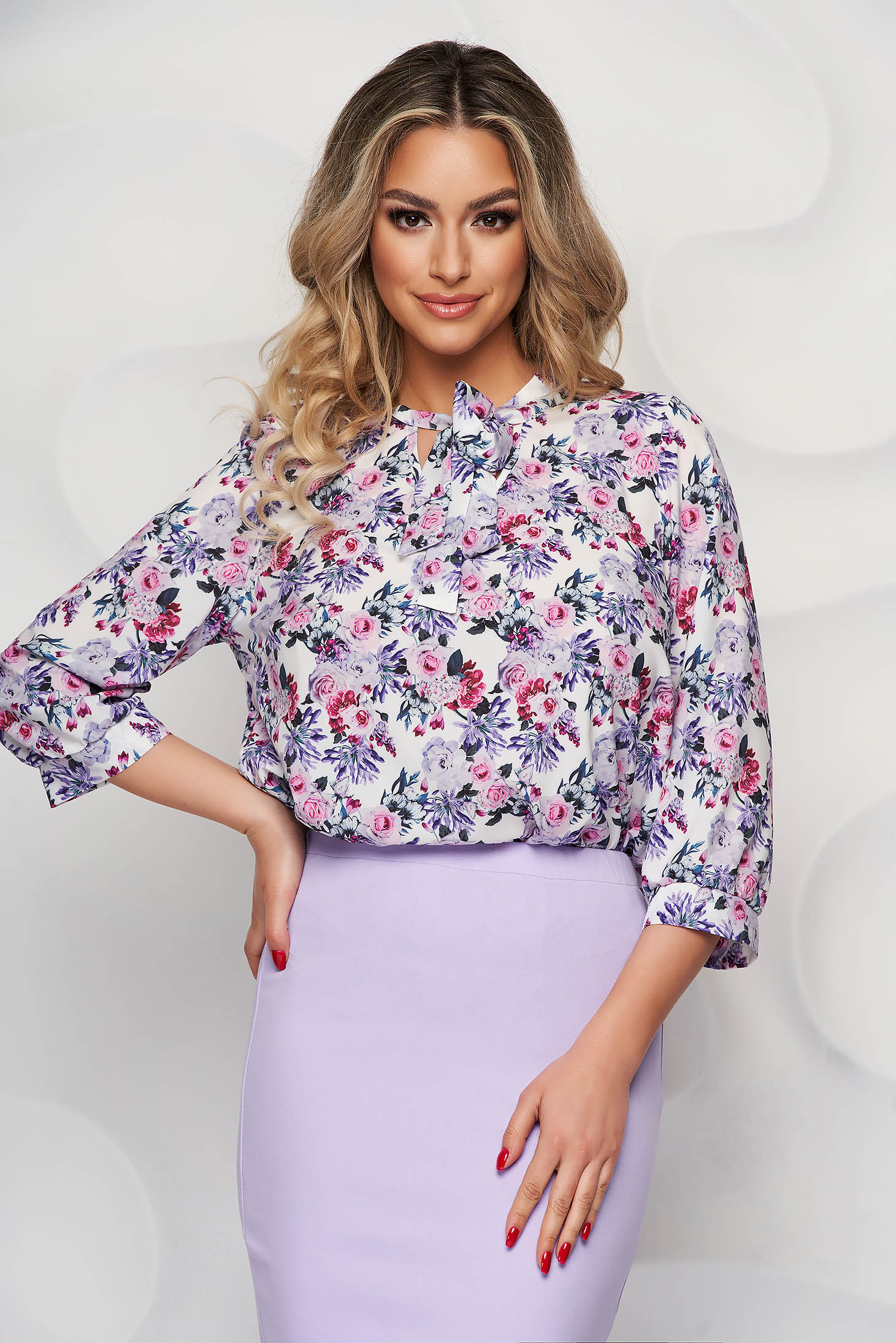 StarShinerS women`s blouse with floral print airy fabric