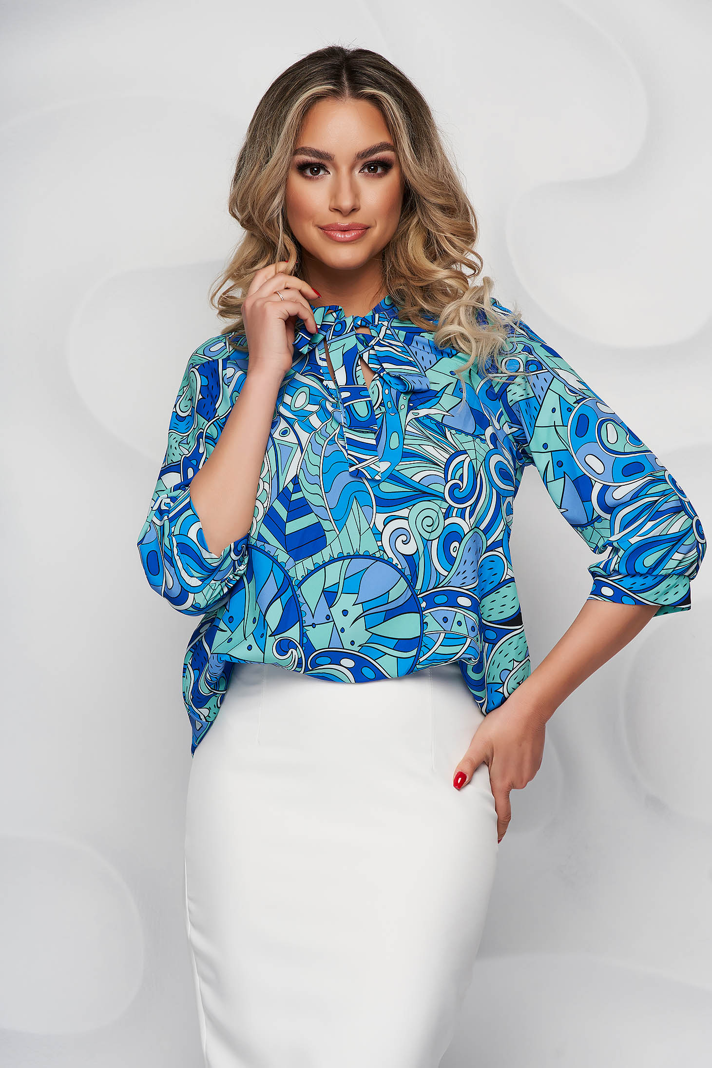 StarShinerS women`s blouse with floral print thin fabric loose fit