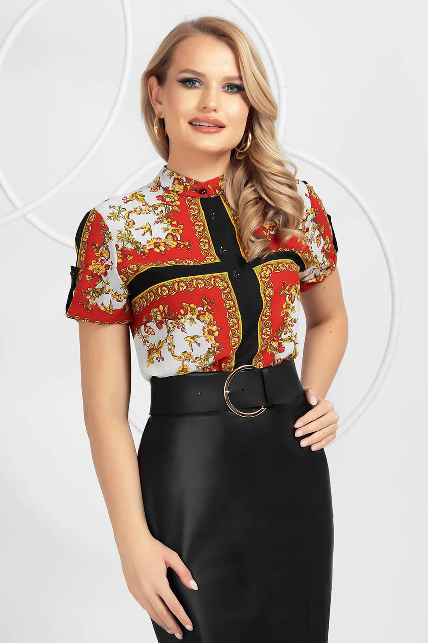 Elegáns virágmintás női ing muszlinból