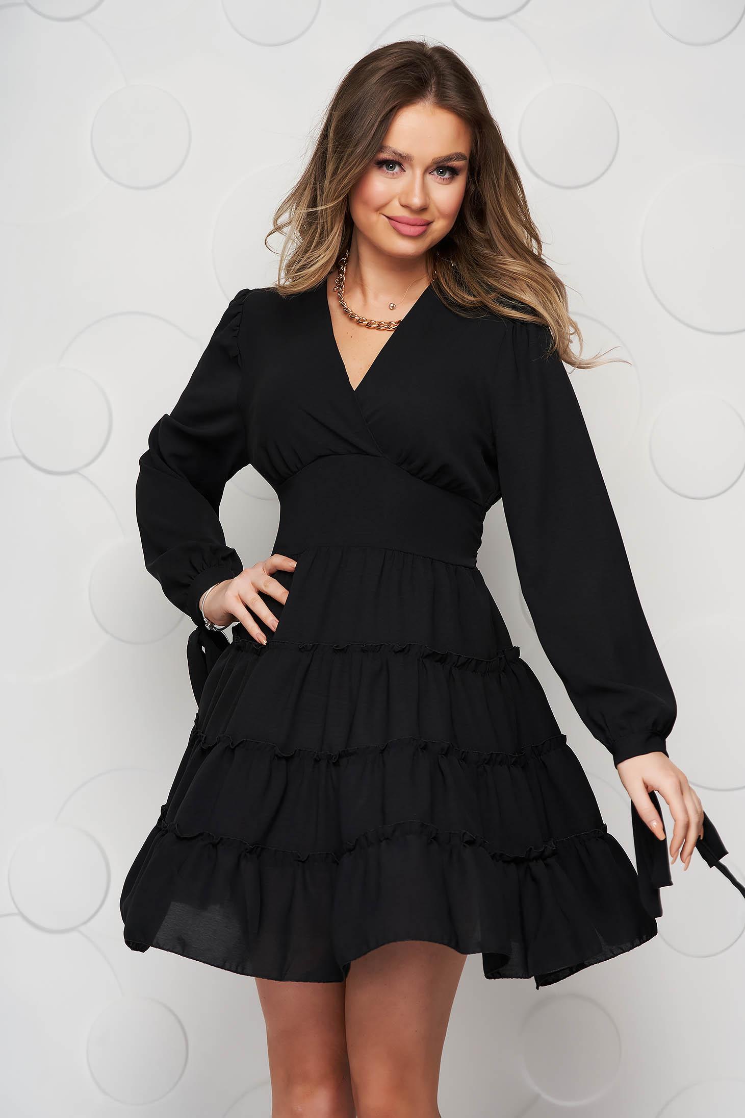 Fekete SunShine fodros harang tipusú ruha