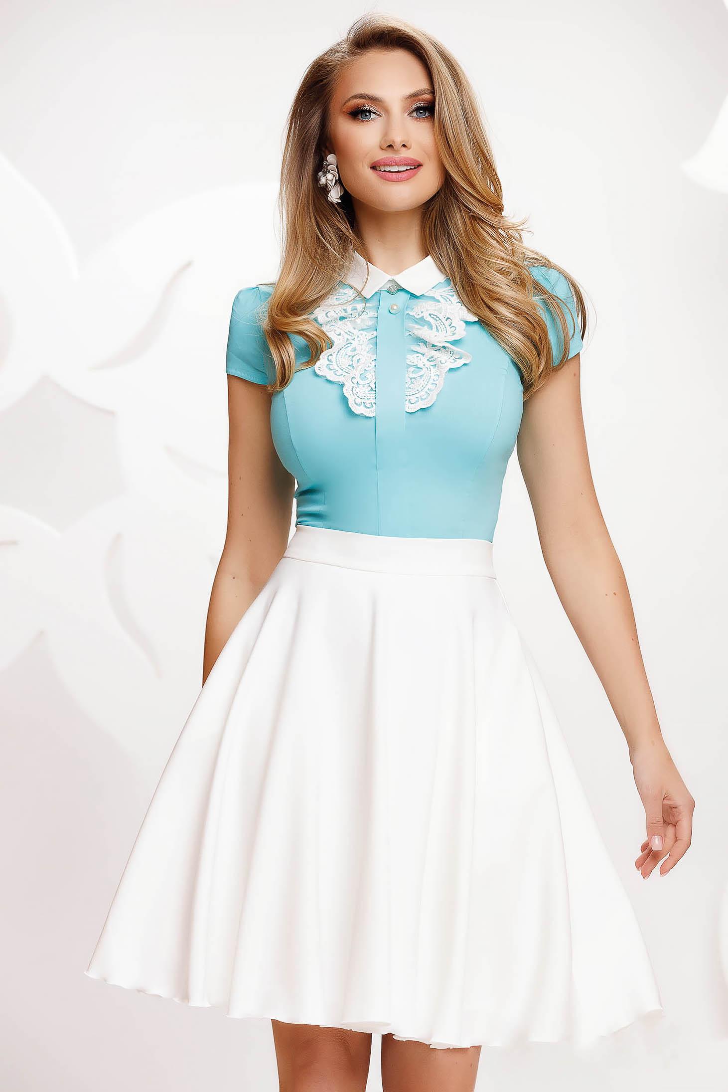 White skirt cloche high waisted elegant