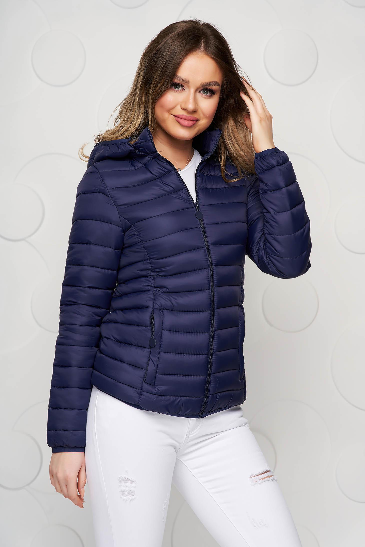 Darkblue jacket from slicker thin fabric