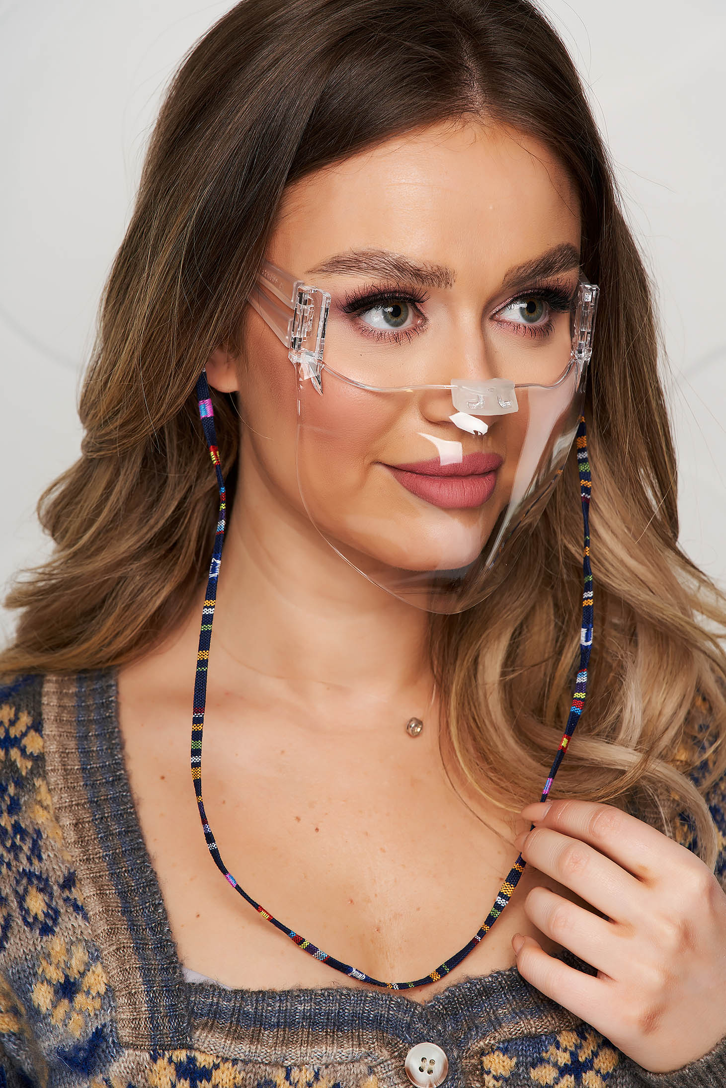 Silver face masks