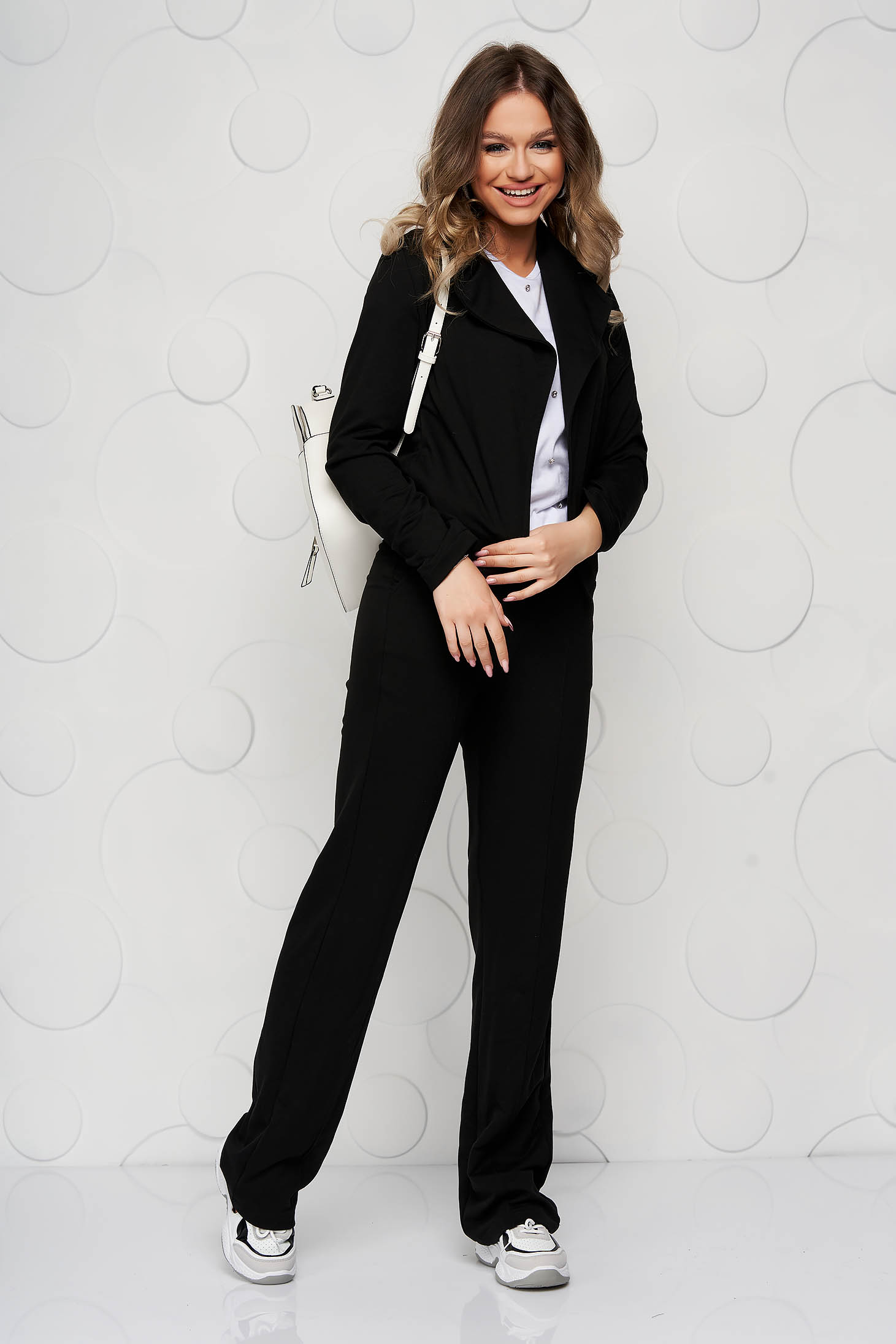 StarShinerS black trousers casual with pockets loose fit