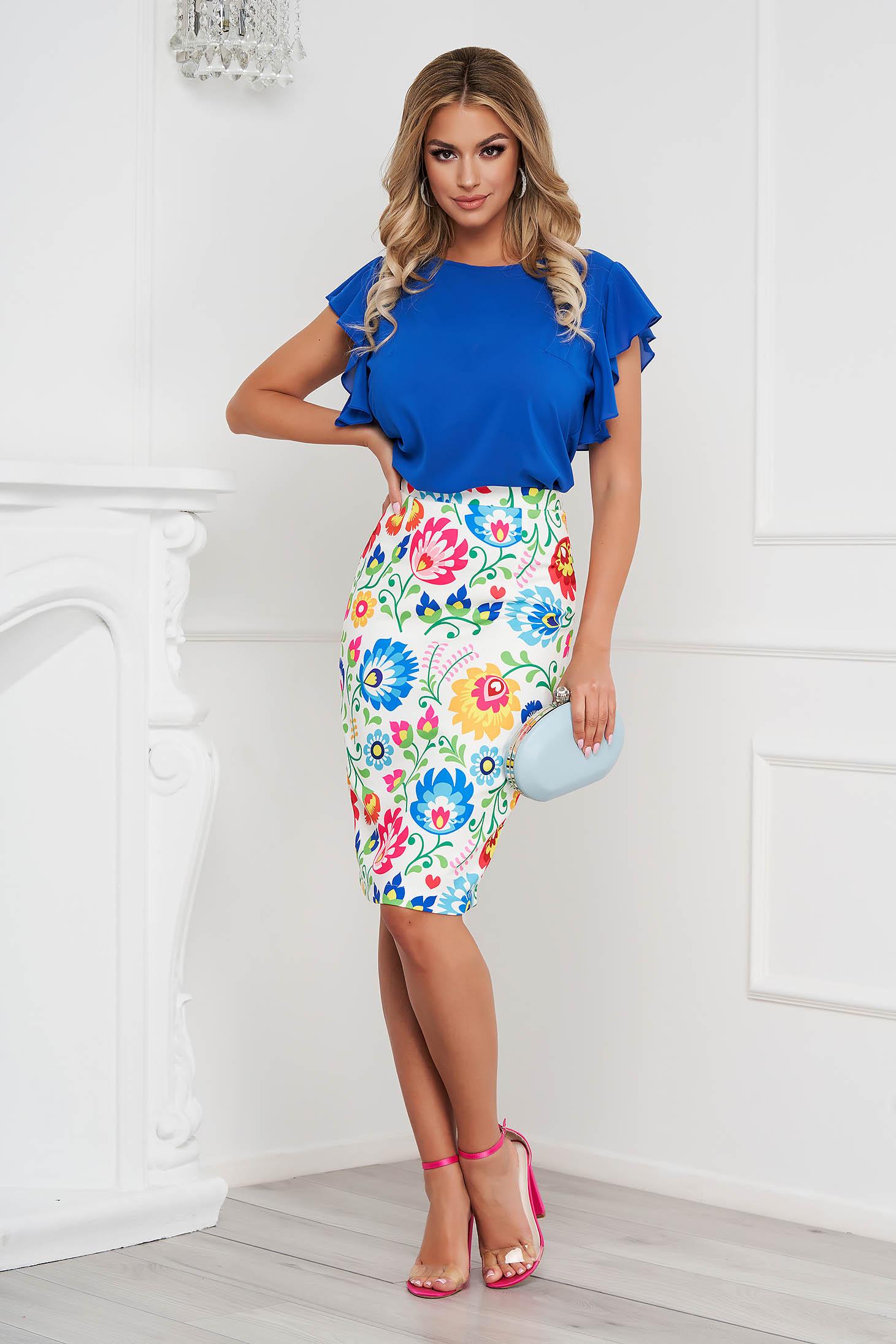 StarShinerS skirt midi pencil elegant cloth slightly elastic fabric
