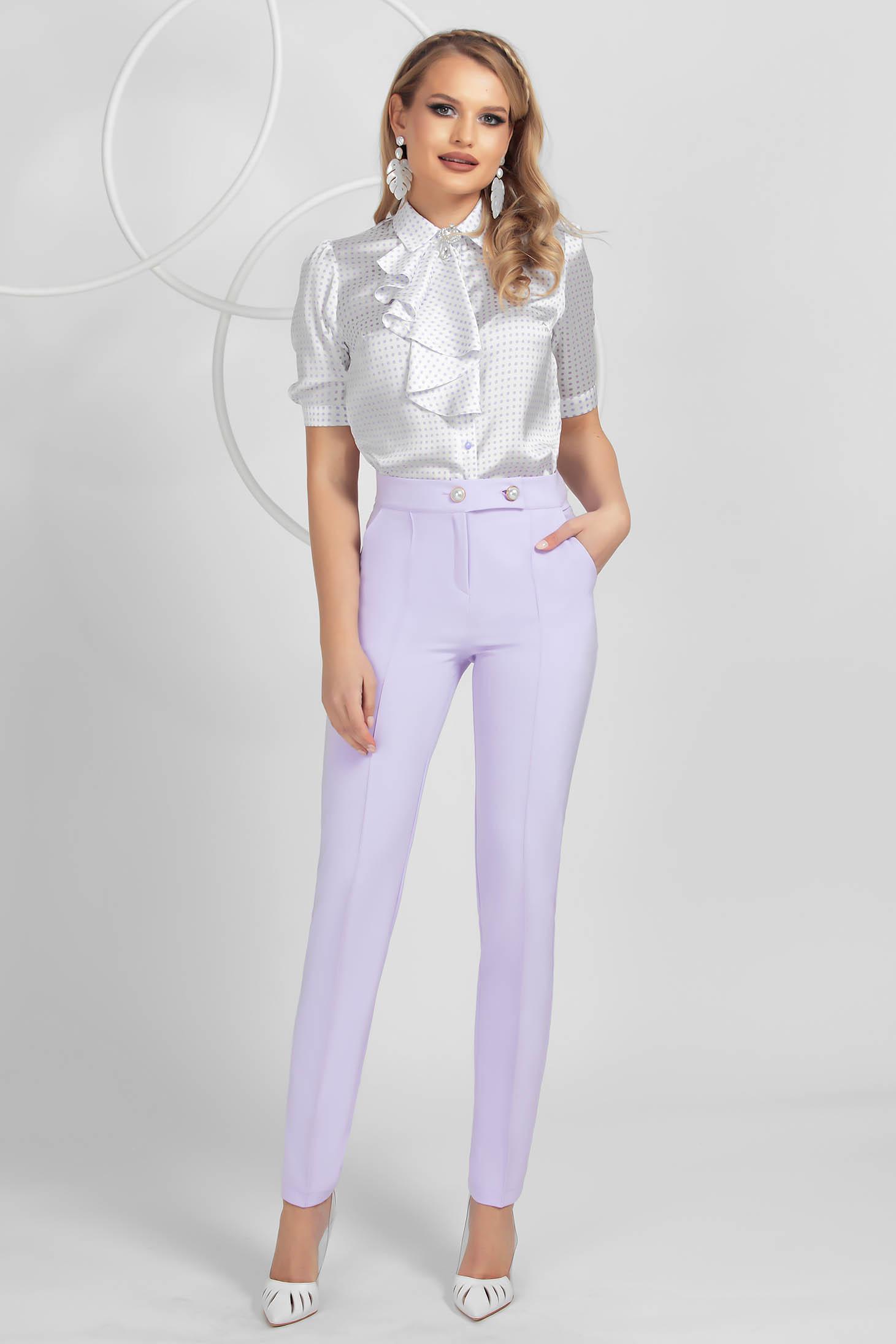 Lila kónikus nadrág enyhén rugalmas anyagból