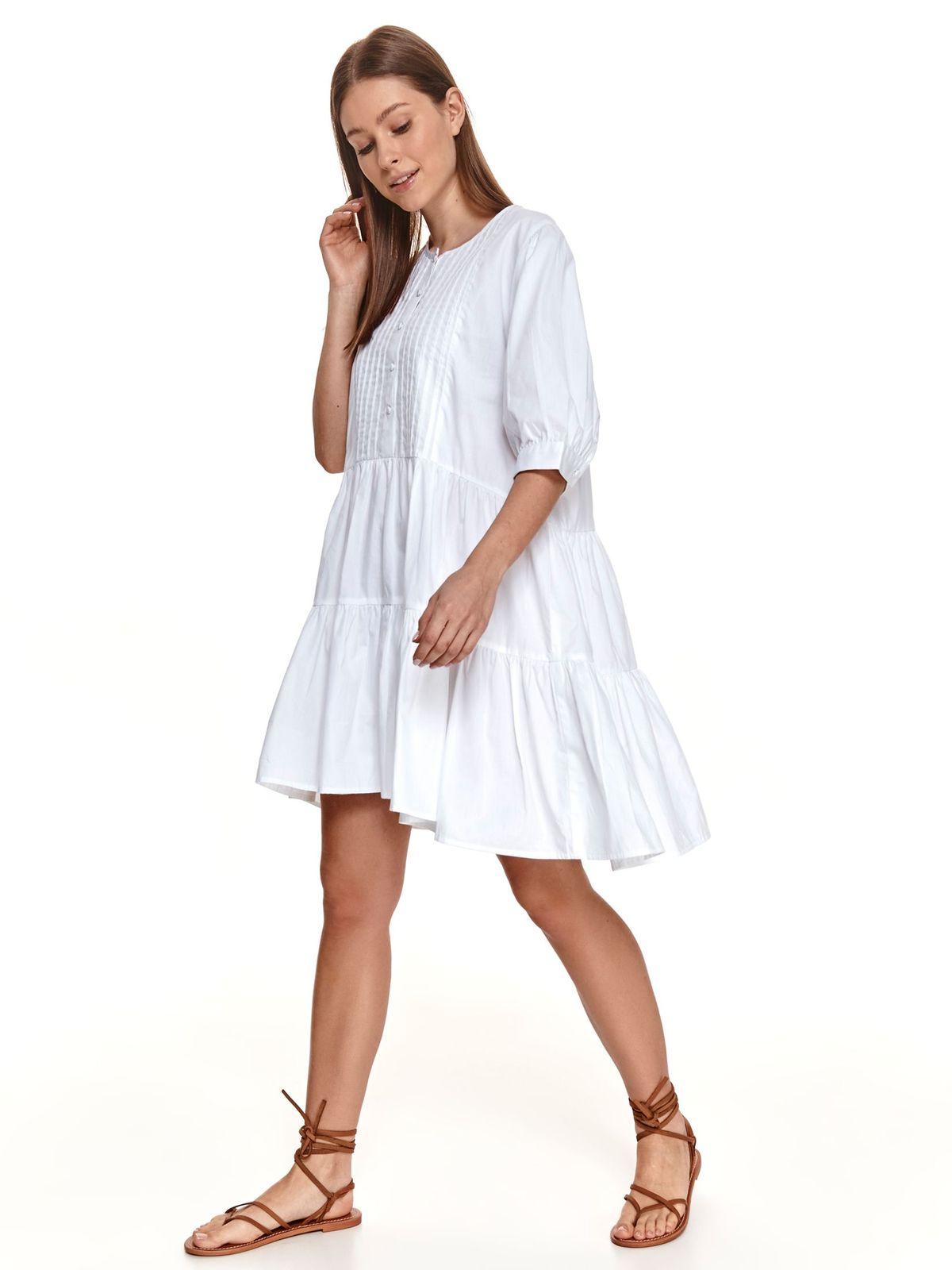 White dress asymmetrical loose fit
