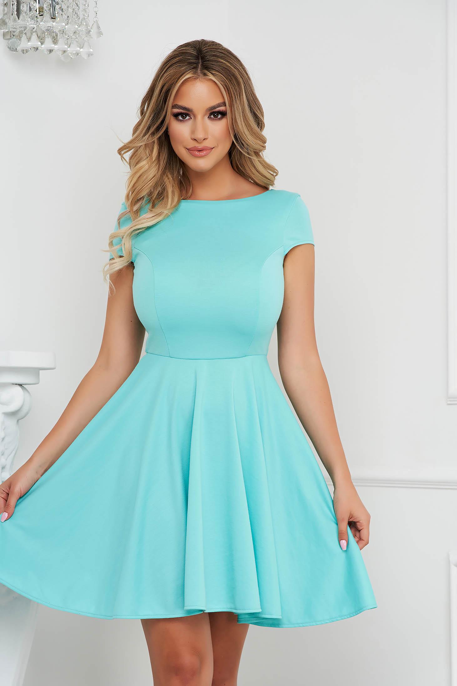 Mint StarShinerS dress cloche slightly elastic fabric v back neckline