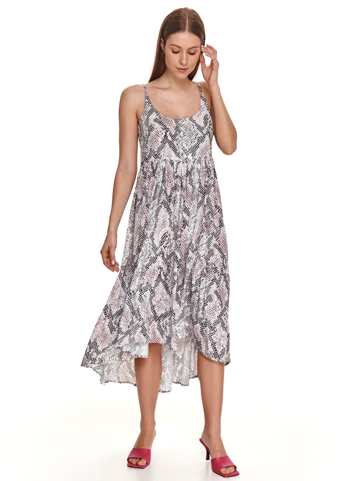 Peach dress animal print asymmetrical airy fabric