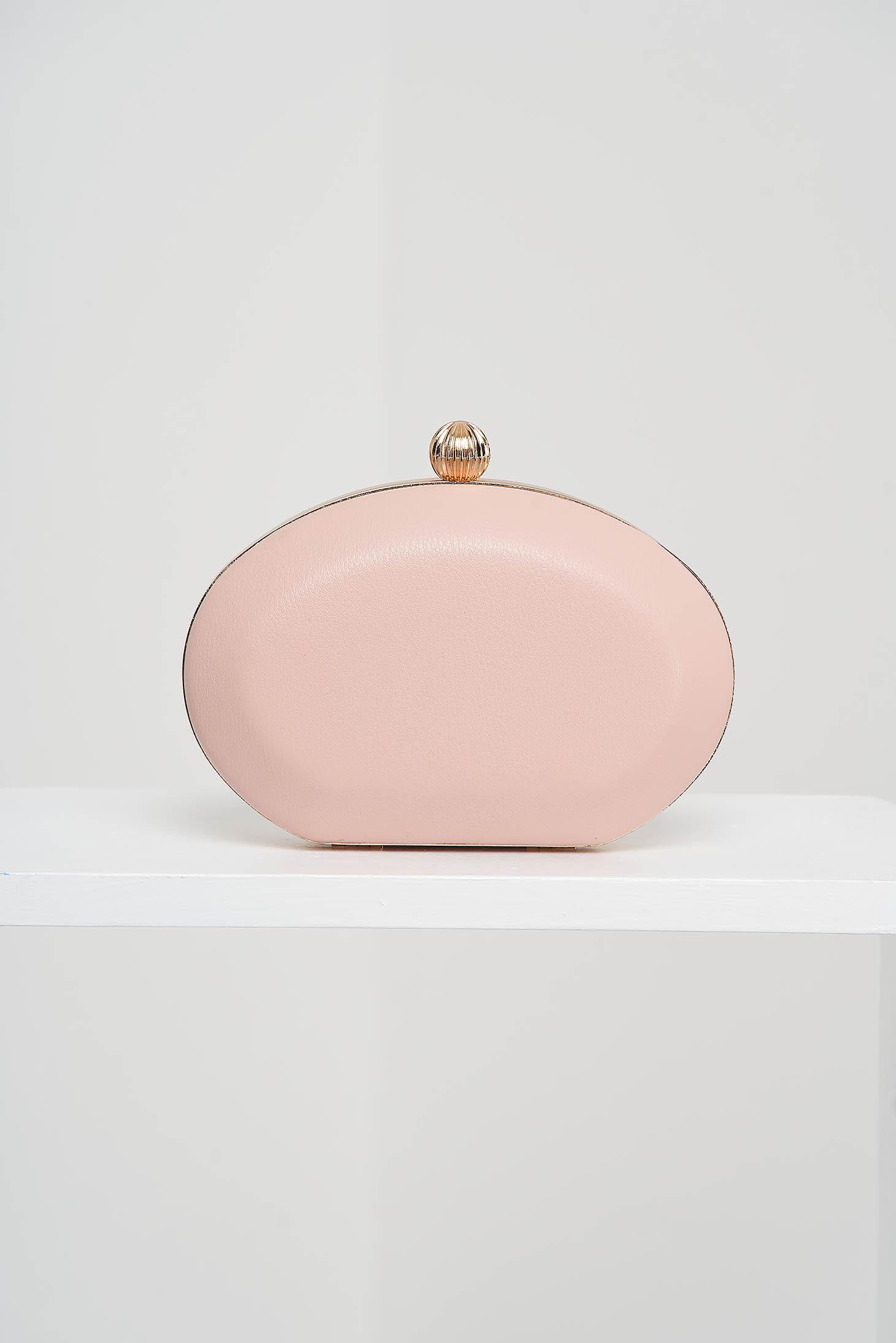 Geanta dama tip clutch roz de ocazie din piele ecologica