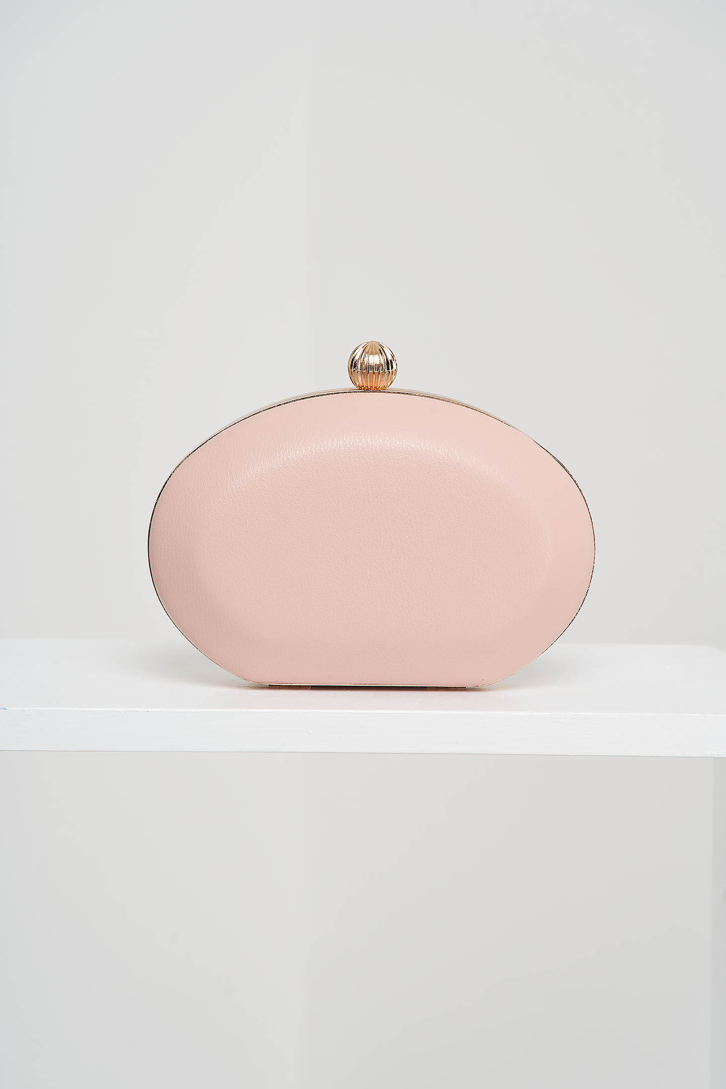 Pink bag from ecological leather occasional