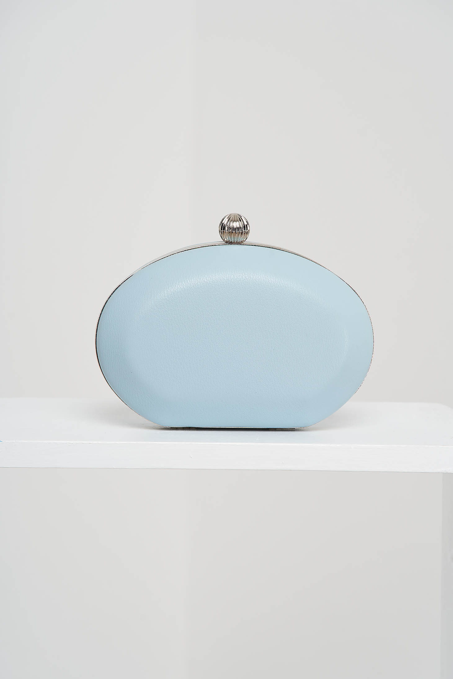 Blue bag from ecological leather occasional