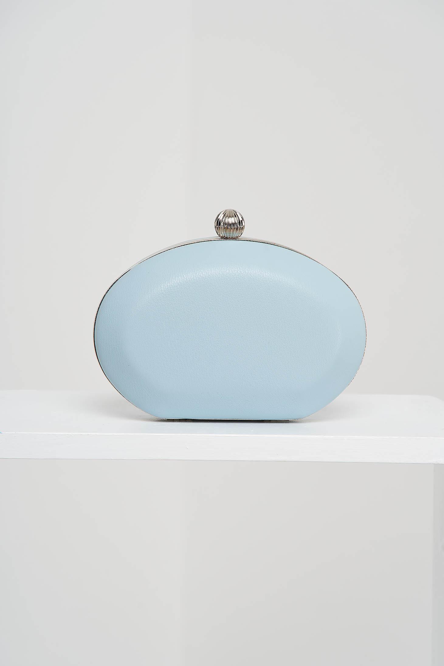 Geanta dama tip clutch albastra de ocazie din piele ecologica