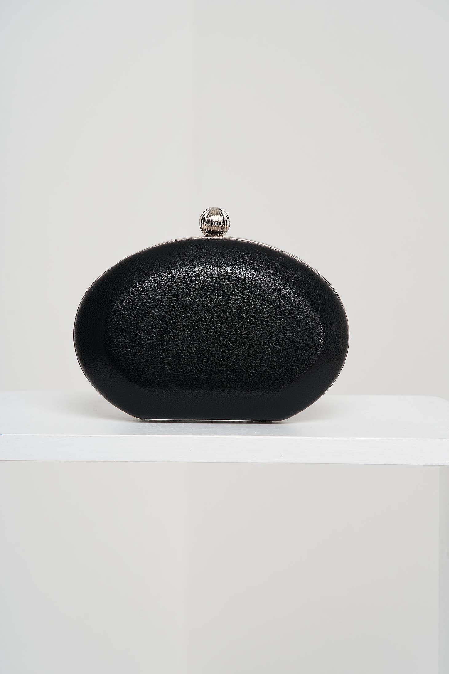 Geanta dama tip clutch neagra de ocazie din piele ecologica