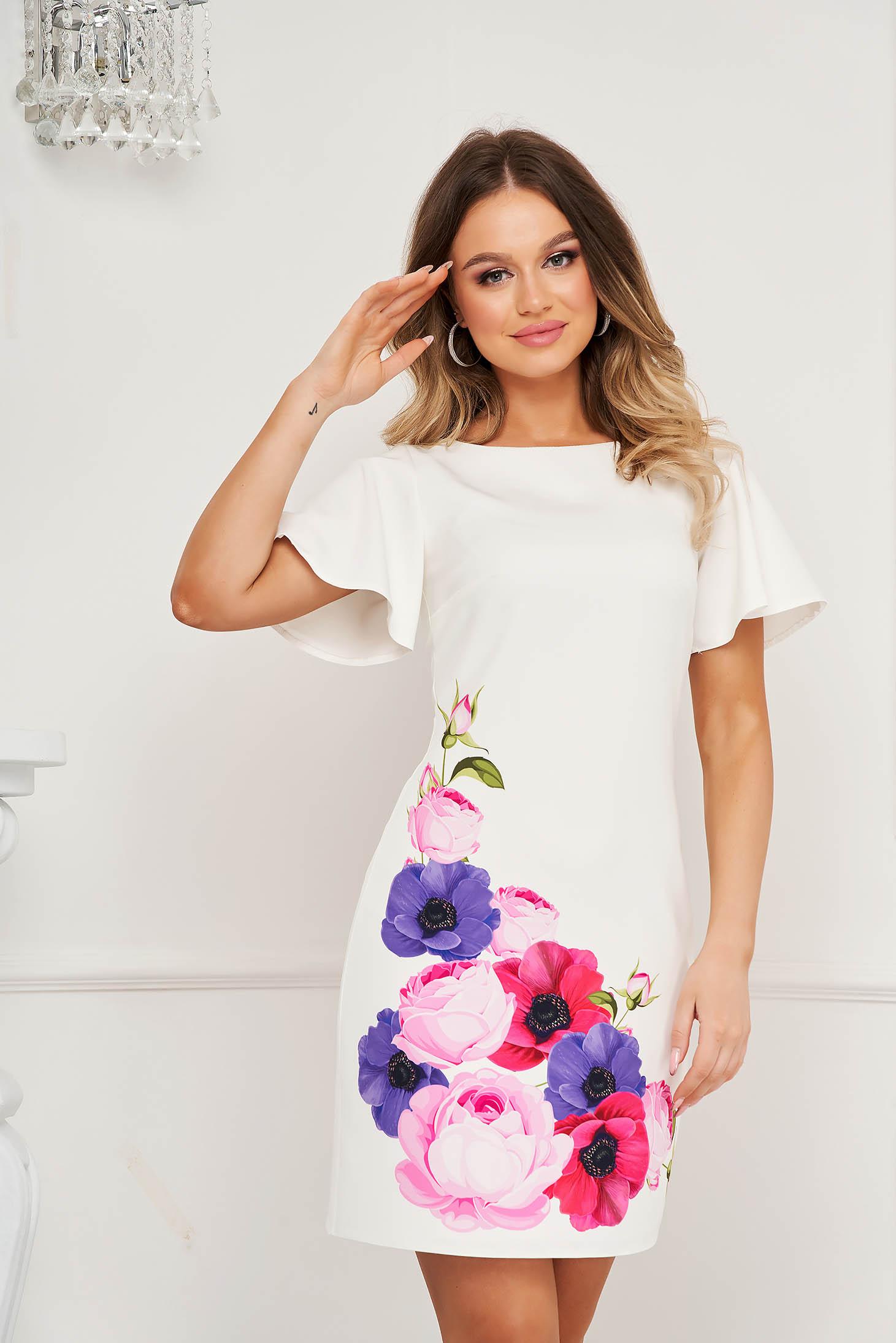 StarShinerS rochie scurta cu croi in a cu maneci scurte tip fluture