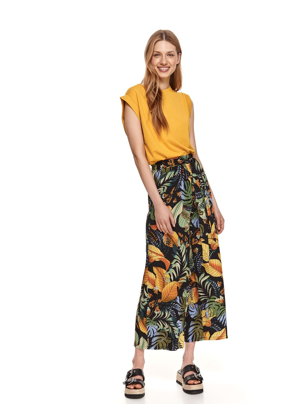 Yellow t-shirt loose fit cotton
