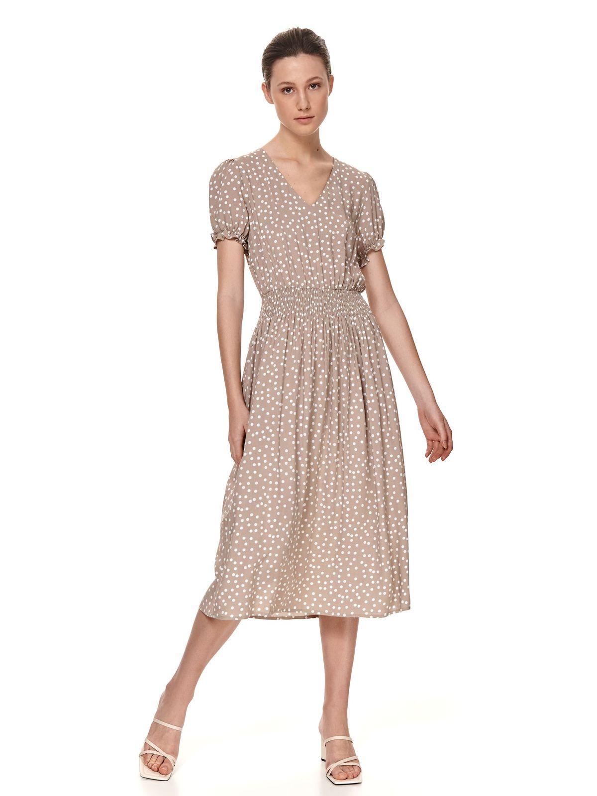 Peach dress midi cloche with elastic waist airy fabric