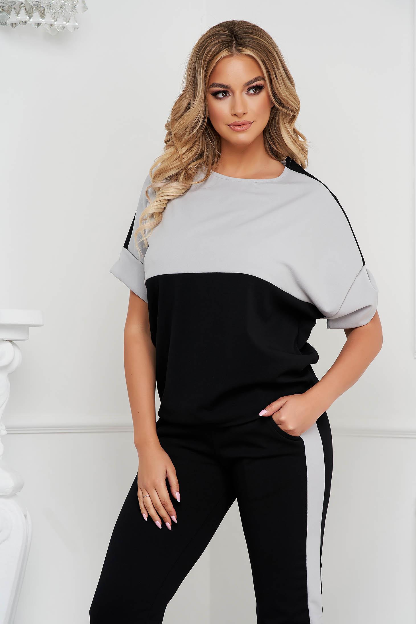 Black sport 2 pieces loose fit medium waist with pockets