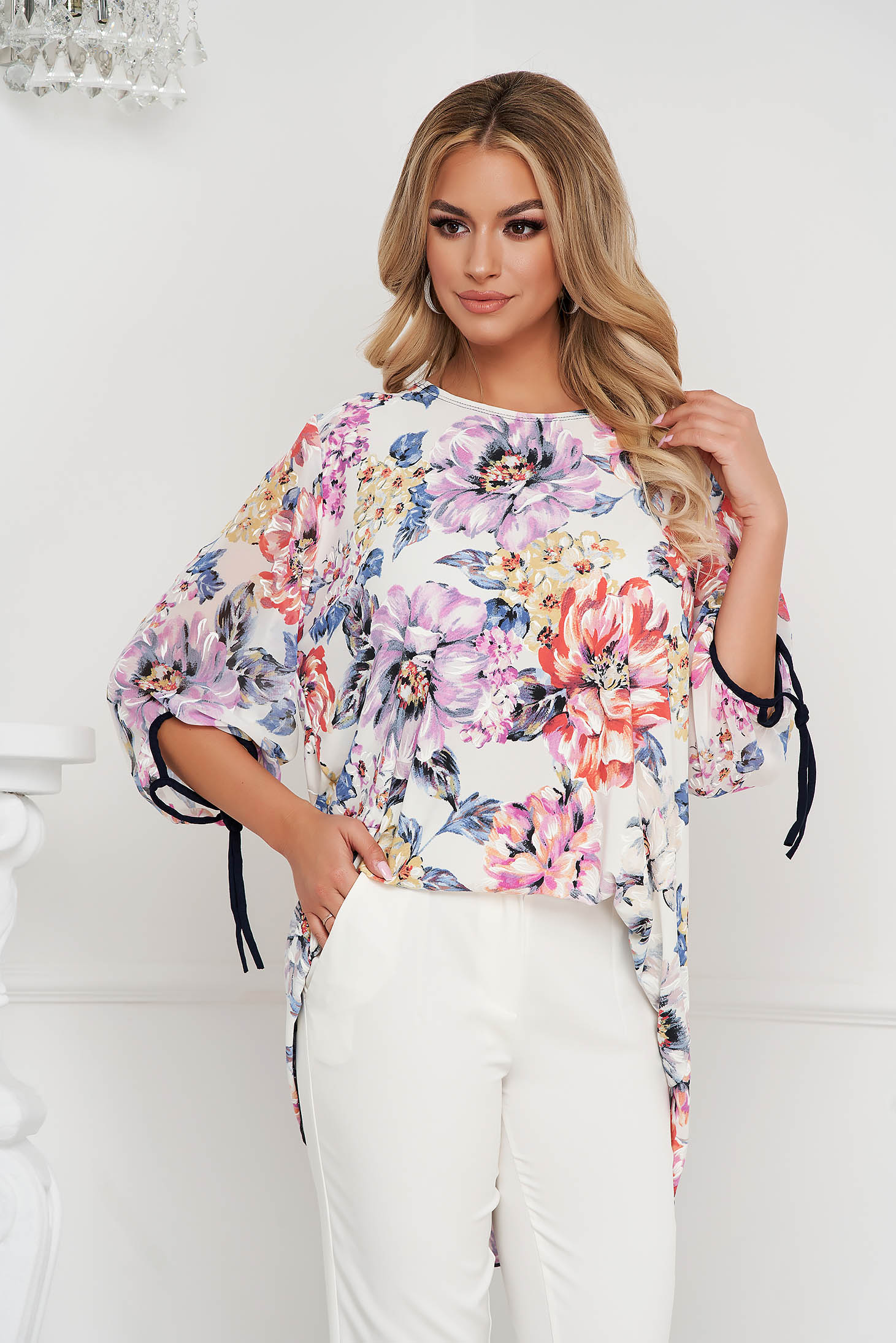 Women`s blouse elegant loose fit airy fabric