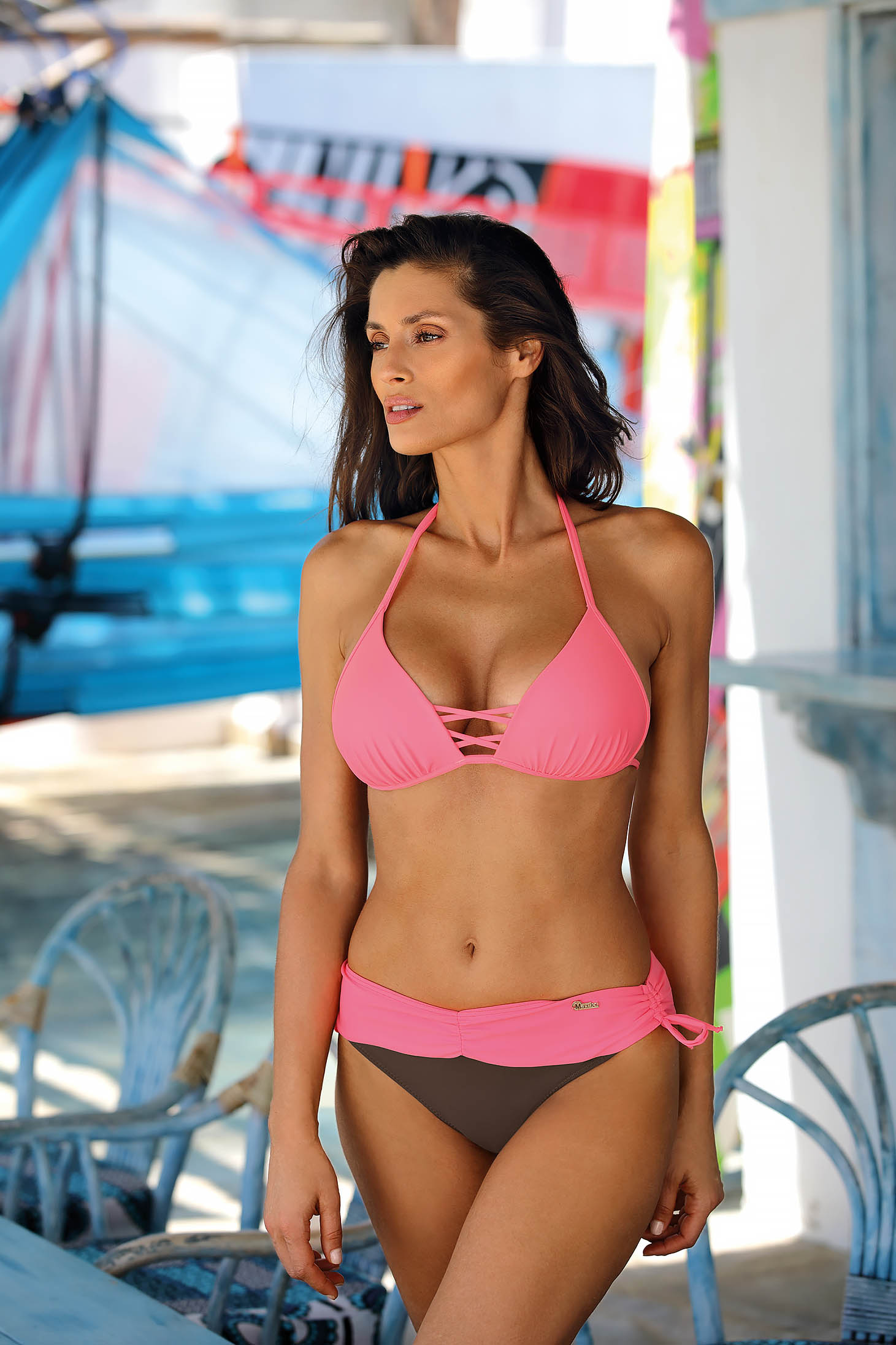 Pink swimsuit brazilian bikinis 2 pieces
