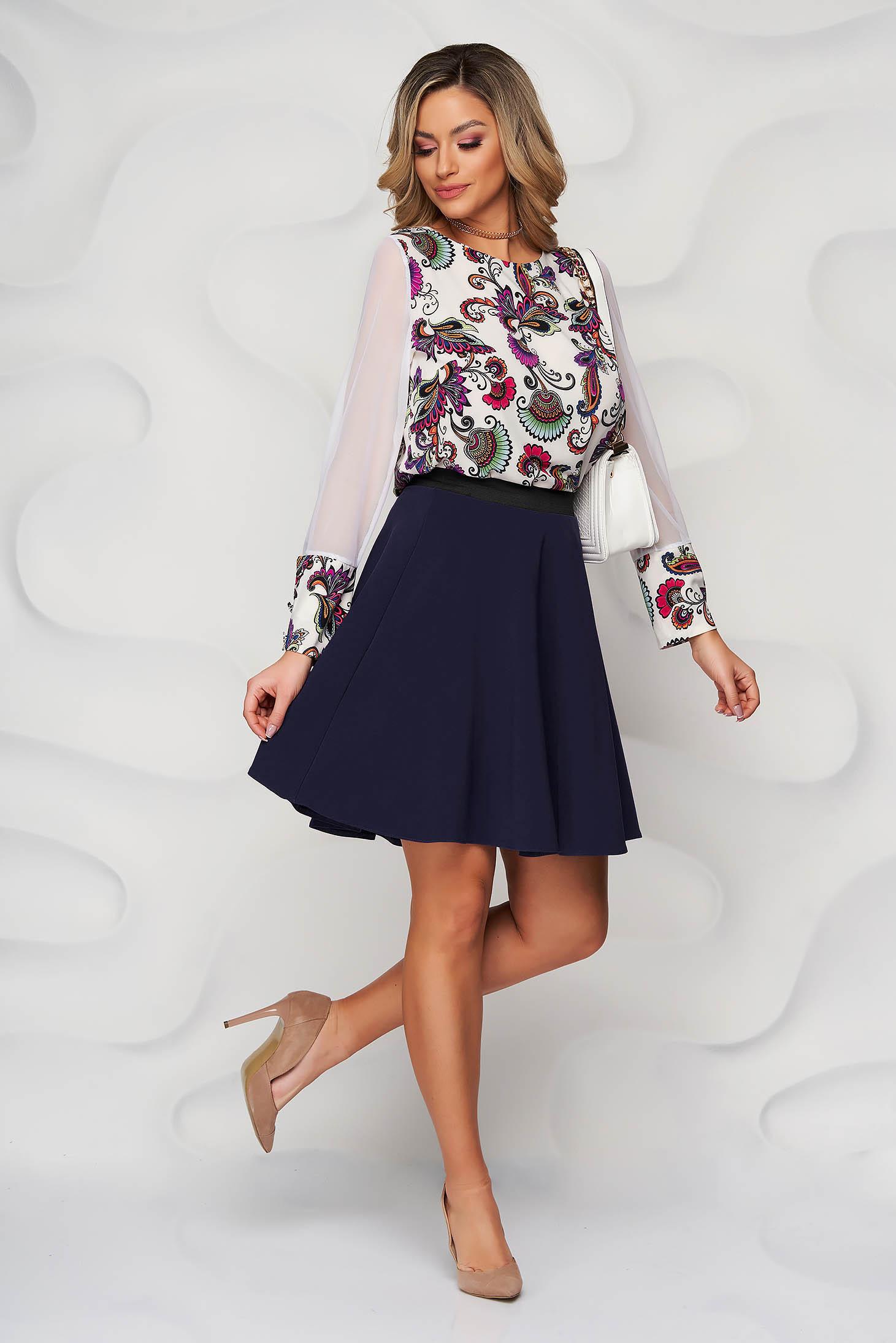 StarShinerS darkblue skirt cloche with elastic waist cloth short cut office