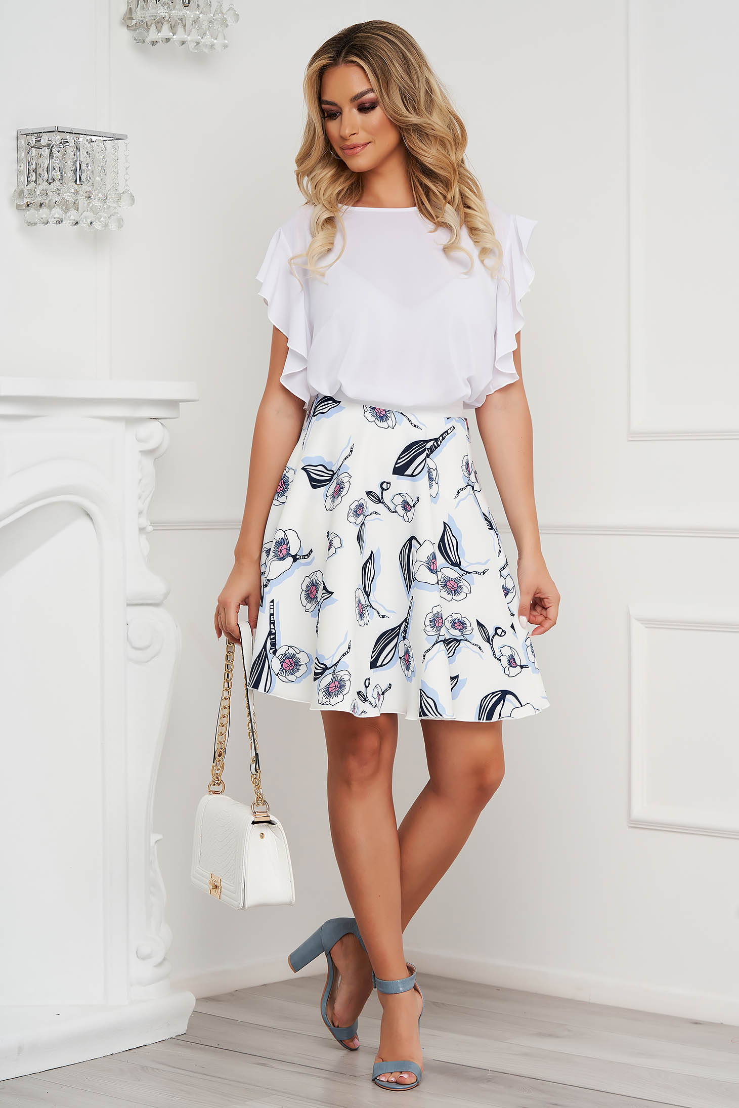 StarShinerS skirt cloche with elastic waist cloth short cut office