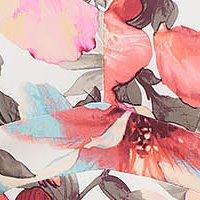 Rochie office midi in clos din material subtire cu maneci scurte si imprimeu floral