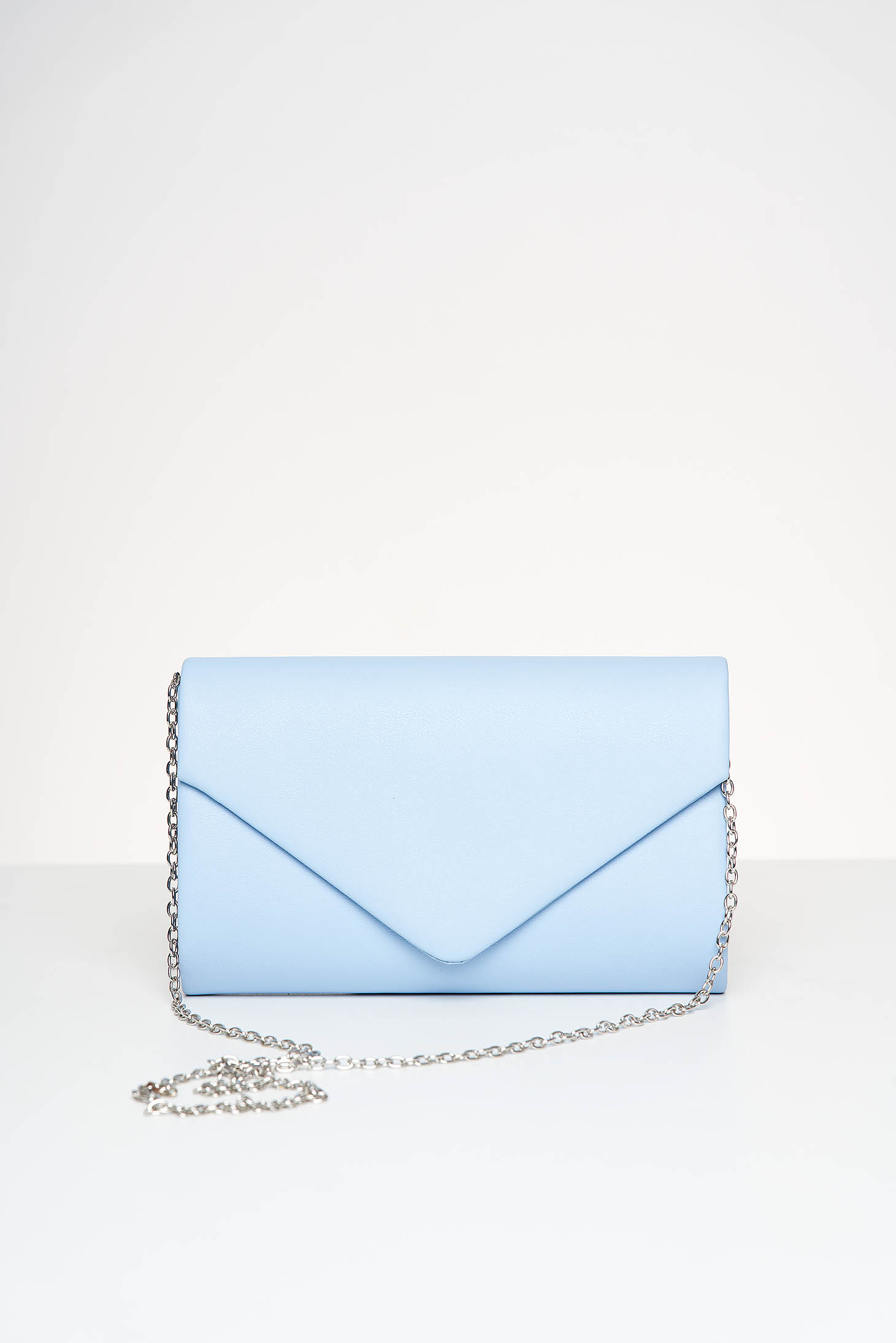 Lightblue bag occasional from ecological leather