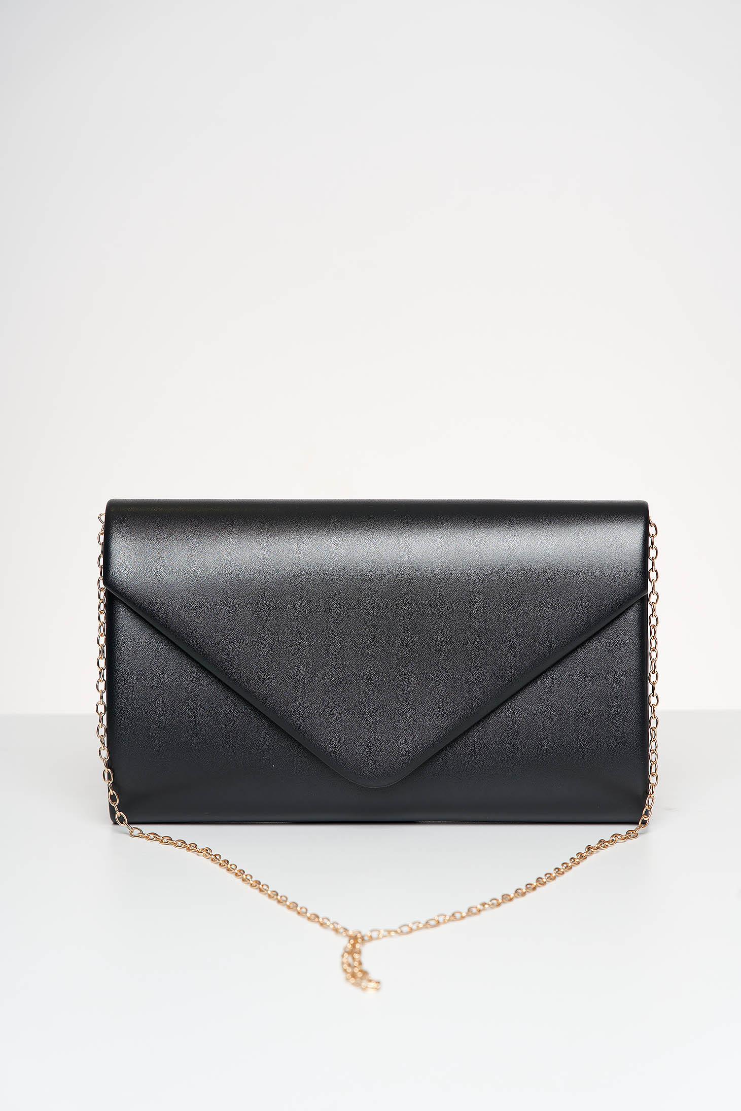 Fekete alkalmi táska műbőrből