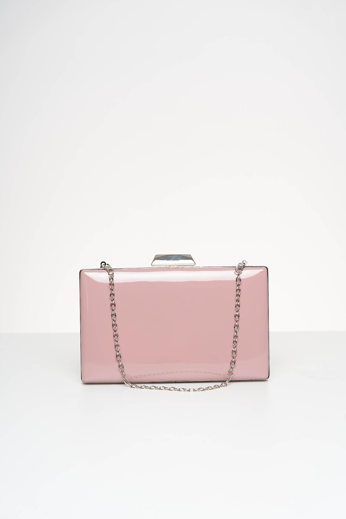 Lightpink bag occasional from ecological varnished leather