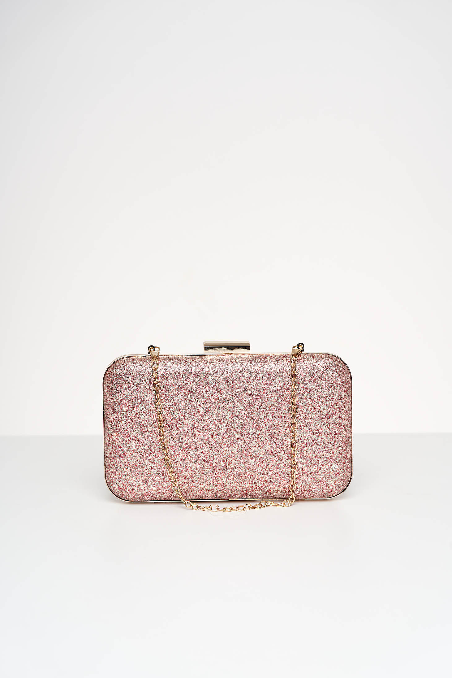 Pink bag occasional with glitter details