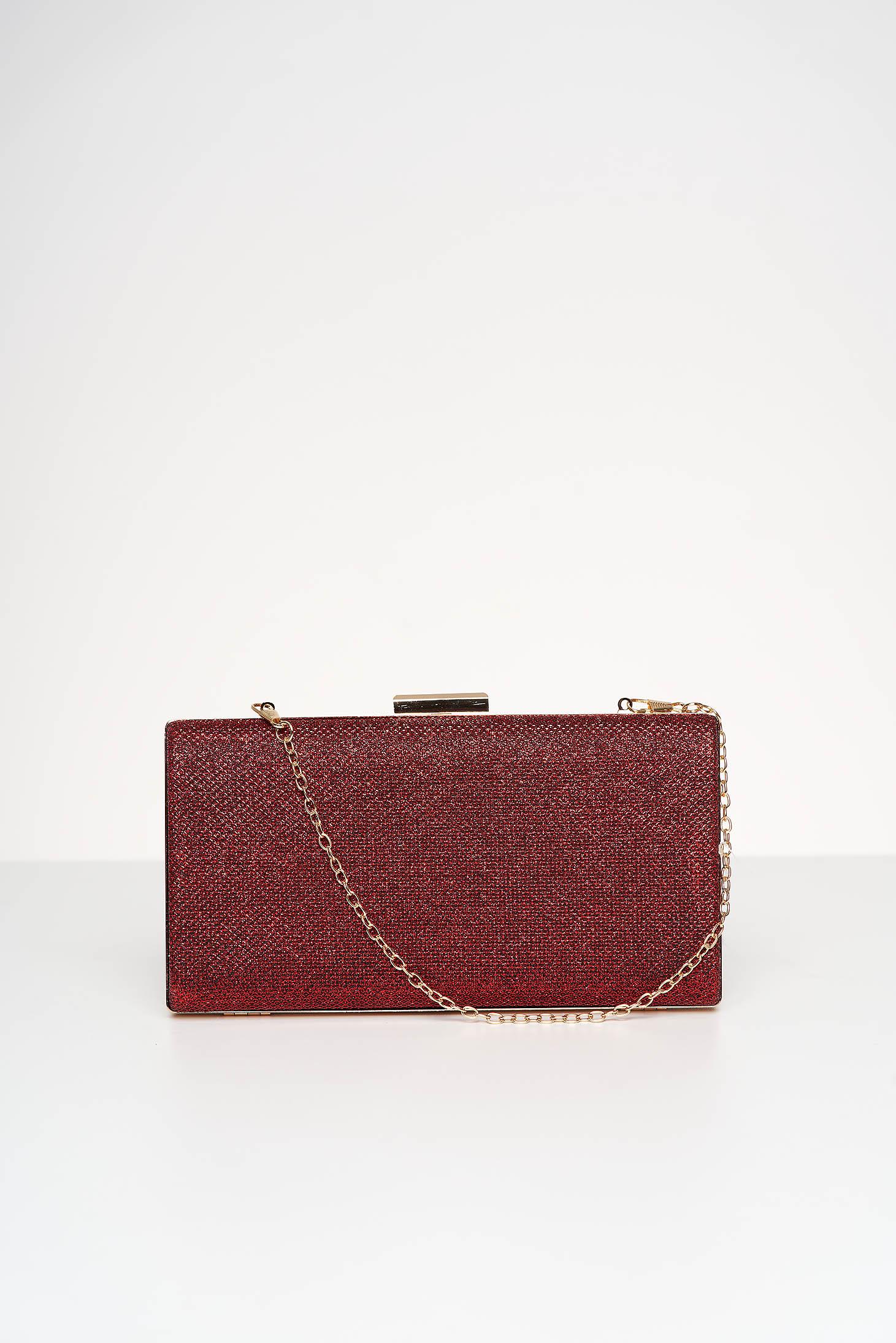 Piros alkalmi táska csillogó díszítésekkel