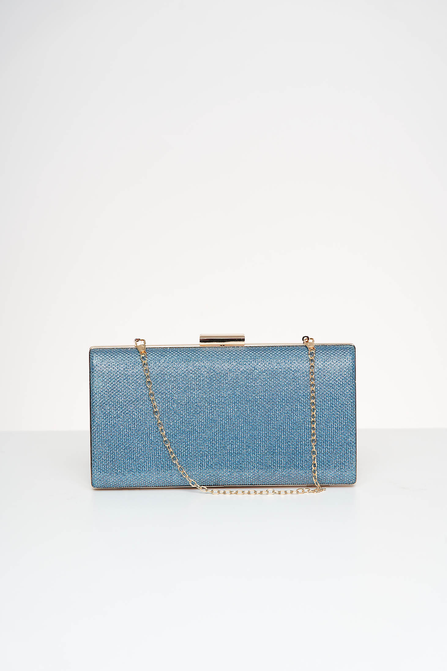 Lightblue bag occasional with glitter details