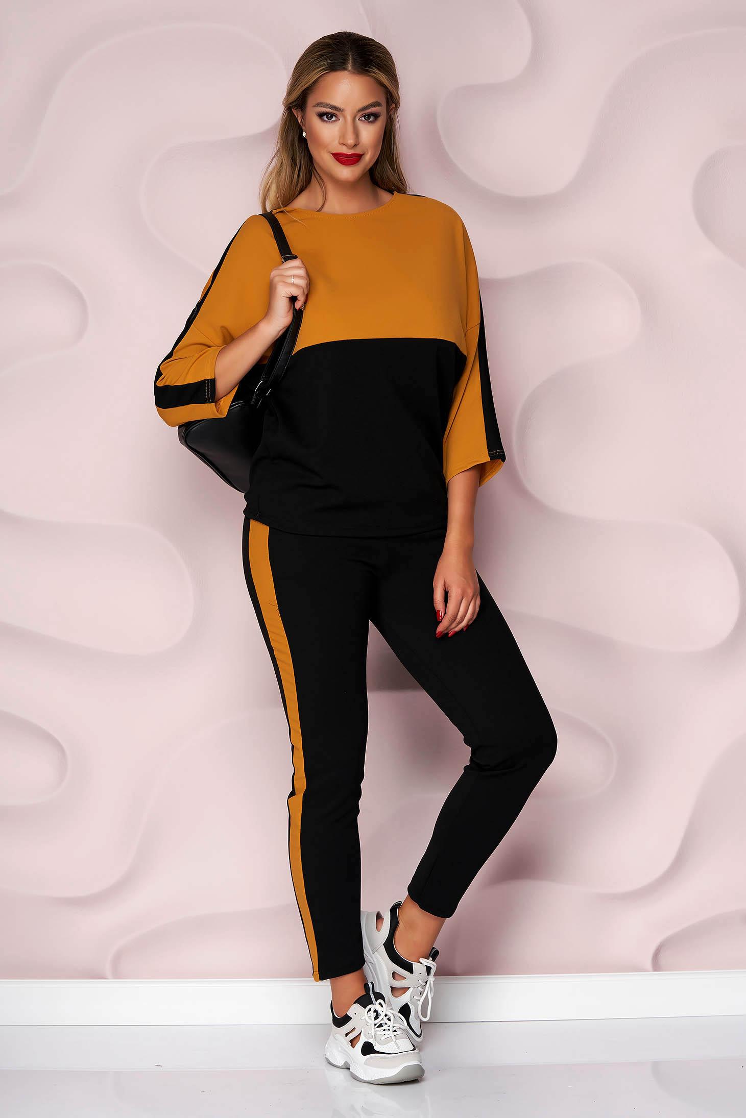 Mustard sport 2 pieces loose fit medium waist with pockets