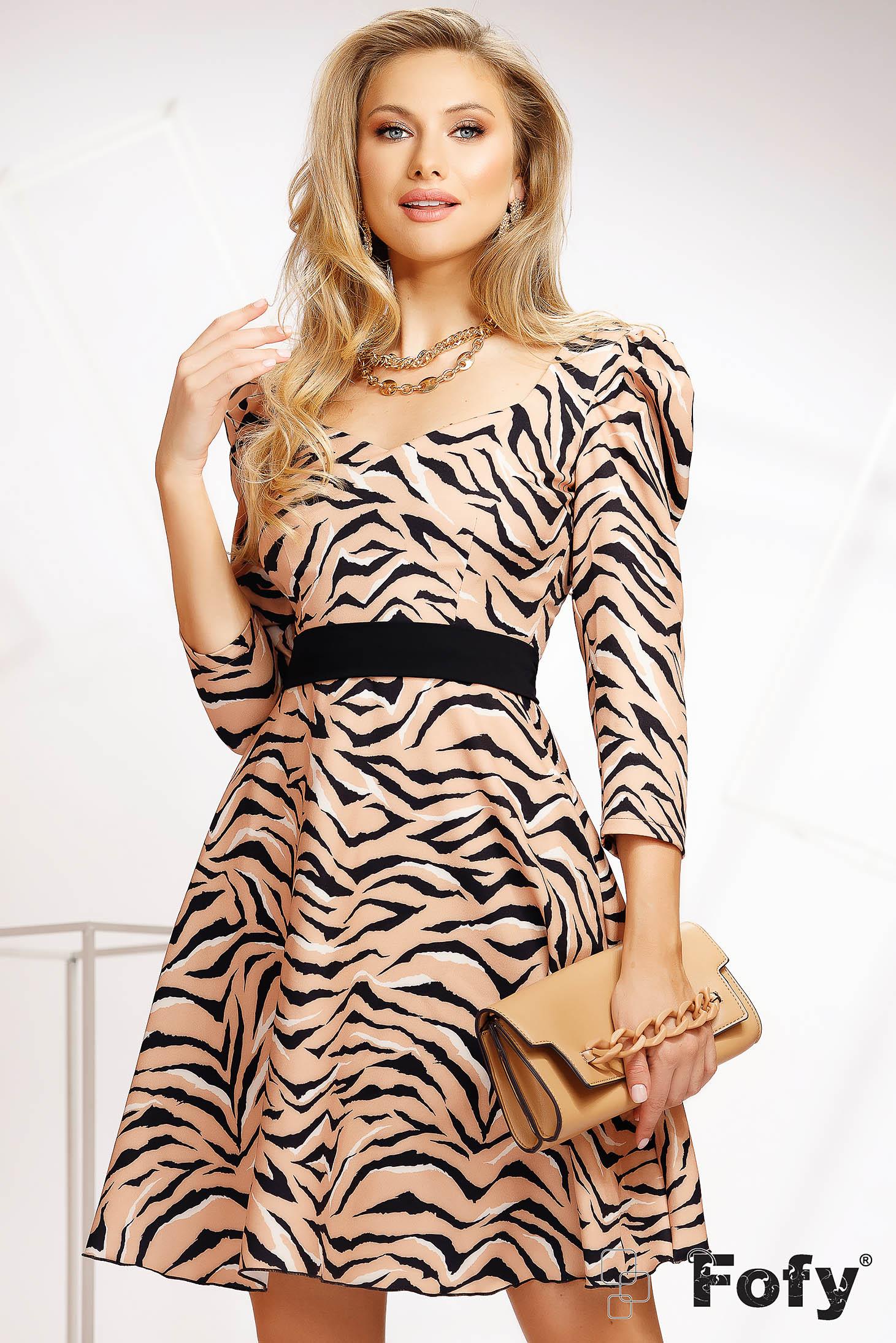 Dress casual cloche thin fabric lateral pockets detachable cord