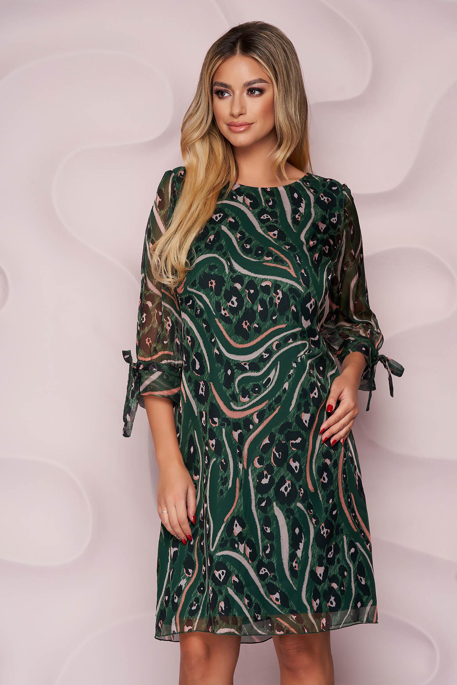 Dress straight short cut thin fabric nonelastic fabric from veil